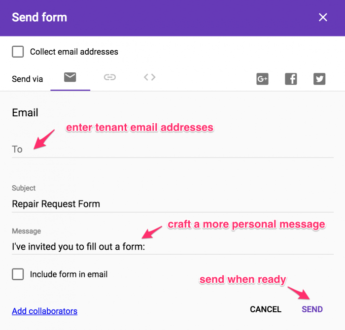 Step 13 - How to email the form