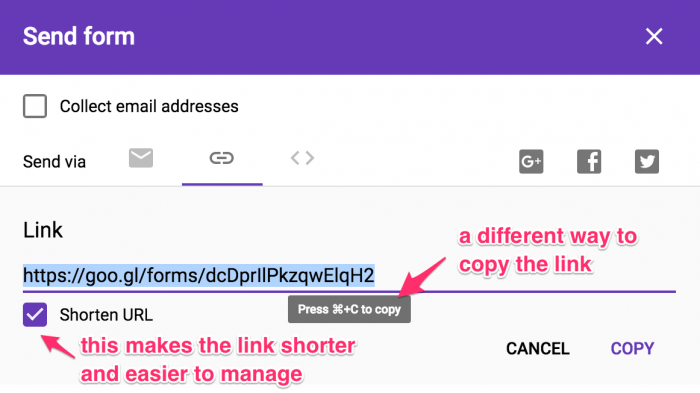 Step 14b - How to shorten the url