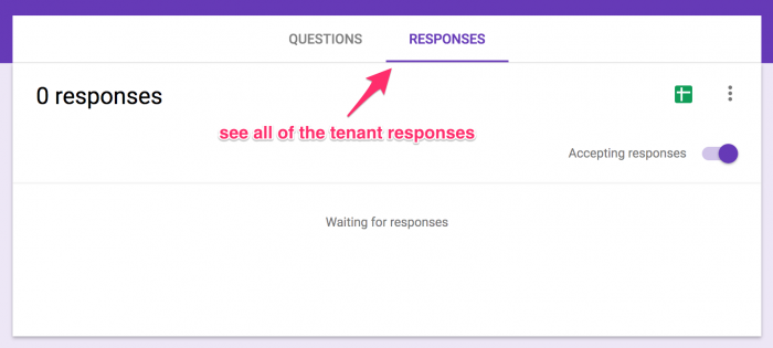 Step 16 - Acquiring tenant responses
